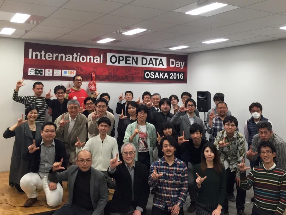 第7回LODハッカソン関西 in インターナショナル・オープンデータ・デイ大阪2016の集合写真